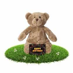Verjaardag knuffel beer 17 + gratis verjaardagskaart