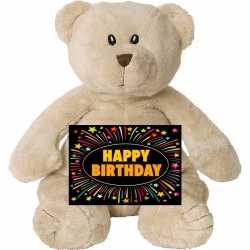 Verjaardag knuffel beer 17 gratis verjaardagskaart