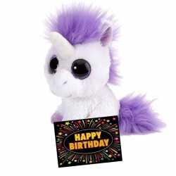 Verjaardag knuffel eenhoorn 13 + gratis verjaardagskaart