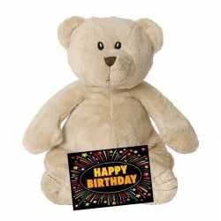 Verjaardag knuffel teddybeer 23 + gratis verjaardagskaart