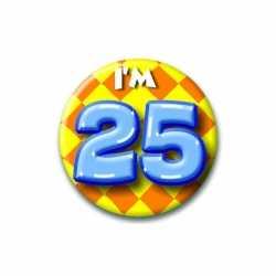 Verjaardags button I am 25