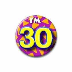 Verjaardags button I am 30