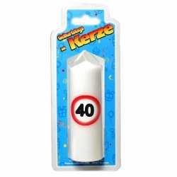 Verjaardagskaars 40 jaar verkeersbord