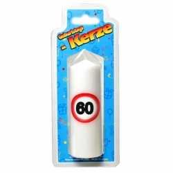 Verjaardagskaars 60 jaar verkeersbord