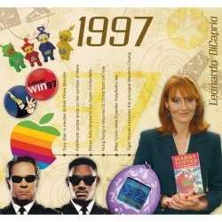 Verjaardagskaart 20 jaar muziek uit 1998