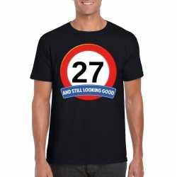 Verkeersbord 27 jaar t shirt zwart heren