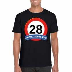 Verkeersbord 28 jaar t shirt zwart heren