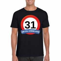 Verkeersbord 31 jaar t shirt zwart heren