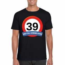 Verkeersbord 39 jaar t shirt zwart heren