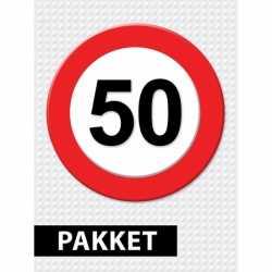 Verkeersbord 50 jaar feestartikelen pakket