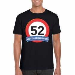Verkeersbord 52 jaar t shirt zwart heren