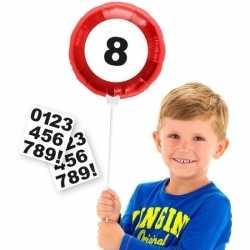 Verkeersbord folieballon cijfer stickers 23