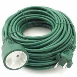 Verlengsnoer/kabel groen 20 meter binnen/buiten