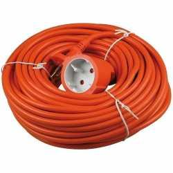 Verlengsnoer/kabel oranje 20 meter binnen/buiten