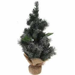 Versierde kunst kerstboom jute voet 50