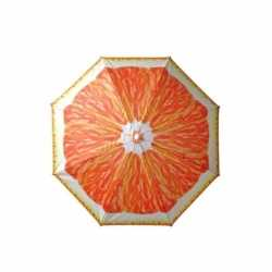 Verstelbare strandparasol / parasol sinasappel print 180