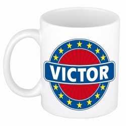 Victor naam koffie mok / beker 300 ml