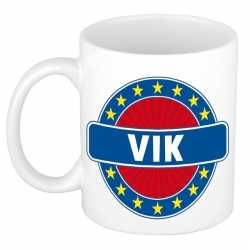 Vik naam koffie mok / beker 300 ml