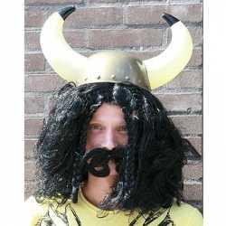 Vikingpruik zwart heren