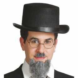 Vilten zwarte hoge hoed volwassenen