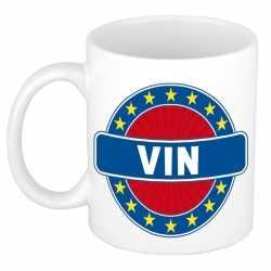 Vin naam koffie mok / beker 300 ml