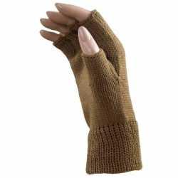 Vingerloze winter handschoenen licht bruin volwassenen