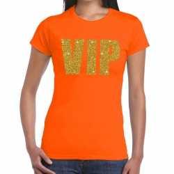 Vip tekst t shirt oranje dames