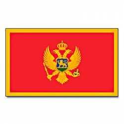Vlag Montenegro 90 bij 150