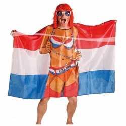 Vlag poncho vrouw