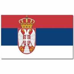 Vlag Servie wapen
