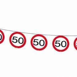 Vlaggenlijn 50 jaar verkeersborden