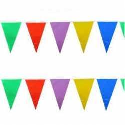 Vlaggenlijn gekleurd 10 meter
