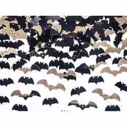 Vleermuizen confetti mix zwart goud