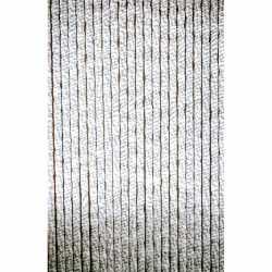 Vliegengordijn/deurgordijn kattenstaart wit/grijs 90 bij 220