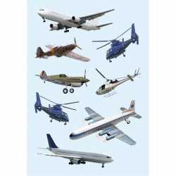 Vliegtuigen stickers 3 vellen