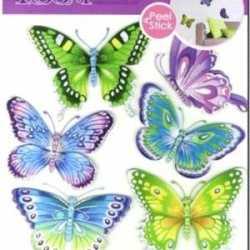 Vlinder decoratie stickers