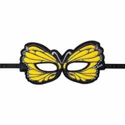 Vlinder oogmasker geel