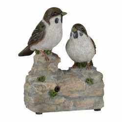 Vogel tuinbeeldje musjes geluid 11