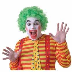 Voordelige groene clownspruik volwassenen