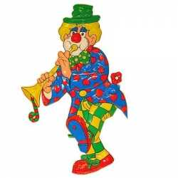 Wanddecoratie clown