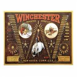Wandplaat Winchester kogels