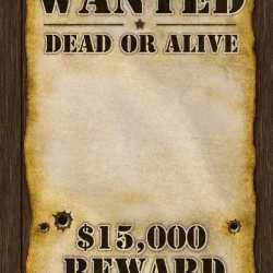 Wanted poster 59x42
