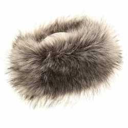 Warme grijze nepbont hoofdband dames