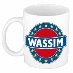 Wassim naam koffie mok / beker 300 ml
