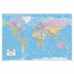 Wereld poster 61 bij 91,5