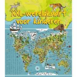Wereldkaart dieren xxl kinderen