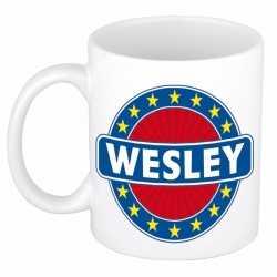 Wesley naam koffie mok / beker 300 ml