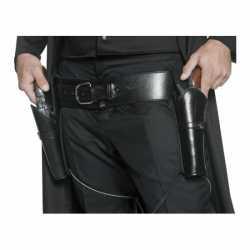 Western riem zwart holsters