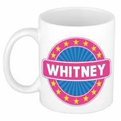Whitney naam koffie mok / beker 300 ml