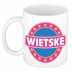 Wietske naam koffie mok / beker 300 ml